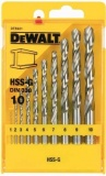 DeWalt DT5921 10 dílná sada do železa HSS-G