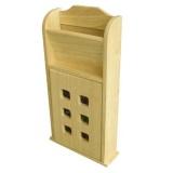 skříňka na klíče s přihr.190x60x370mm kaučuk.dřevo