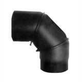 koleno kouřové otočné 130mm/90st.t.1,5mm ČER
