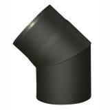 koleno kouřové 145mm/45st.t.1,5mm ČER