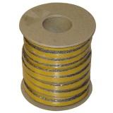 šňůra izolační 10x4mm (500°C) lepicí  (25m)