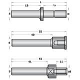 CMT C824 Trn talířové frézy s podložkami - S=12,7mm, D=M8, L1=40