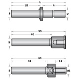 CMT C924 Trn talířové frézy s podložkami - S=12, D=M8, L1=29,75