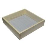 síto zednické oko 4mm, 52x45cm, dřev. rám