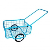 vozík POPULAR I,sklád., gum.obruč, komaxit,418x618x232(1220)mm