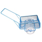 vozík RAPID VI, polyuretan, komaxit, 450x640x280(1320)mm
