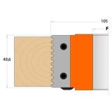 CMT Nůž pro C694008 - pár žiletek 49,6x11,9x1,5mm