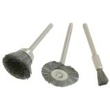 Sada ocelových kartáčů 3ks, S=3,2mm