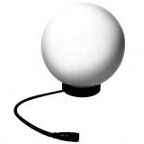 svítidlo koule pr.25cm,32W,IP55,BÍ,včetně zdroje E27,zapichovací