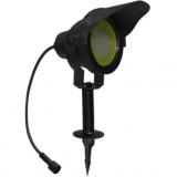svítidlo LED 10W,850lm,MR30,IP67,3000K,teplé,Al ČER+stínítko,zapic