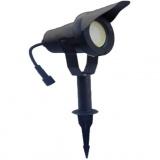 svítidlo LED  6,5W,520lm,MR20,IP67,3000K,teplé,Al ČER+stínítko,zap