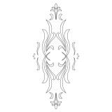 CMT Šablona na ornamenty na kuchyňská dvířka KLASIK 440x185mm