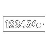 Frézovací šablona na číslice, vel.57mm, 1-6