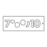 Frézovací šablona na číslice, vel.57mm, 7-10