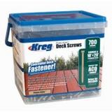 Protec-Kote Vruty pro terasy 4,5 x 53mm, 700ks, drážka čtyřhran + bit 150mm