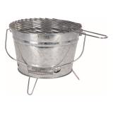 gril BBQ kbelík pr.27,5cm, výška 19cm, pozink