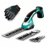 Akumulátorové nůžky na trávu a keře Bosch ASB 10,8 Li set s rukavicemi
