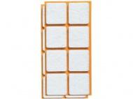 ochrana podlah filcová 25x25mm BÍ (16ks)