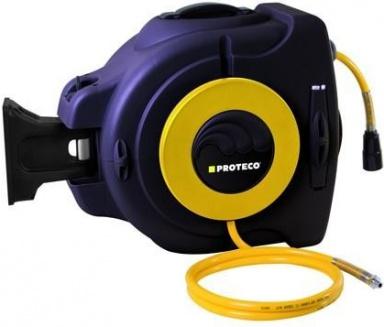 """PROTECO hadice tlaková PVC 3/8"""" 20 m na samonavíjecím bubnu(10.2502-SB-38)"""