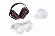 KRTS60001 - Ochranná sada (sluchátka, brýle, respirátor)
