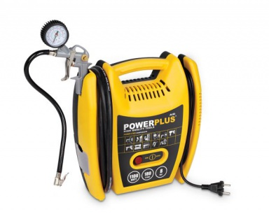POWX1705 - Kompresor 1100W  plus  5 ks přísl. bezolejový