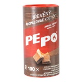 podpalovač kostičky PE-PO dřevěné (100ks)